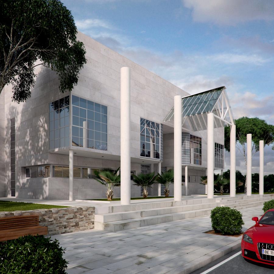 Foto perspectiva del edificio de oficinas de visedo for Edificio oficinas