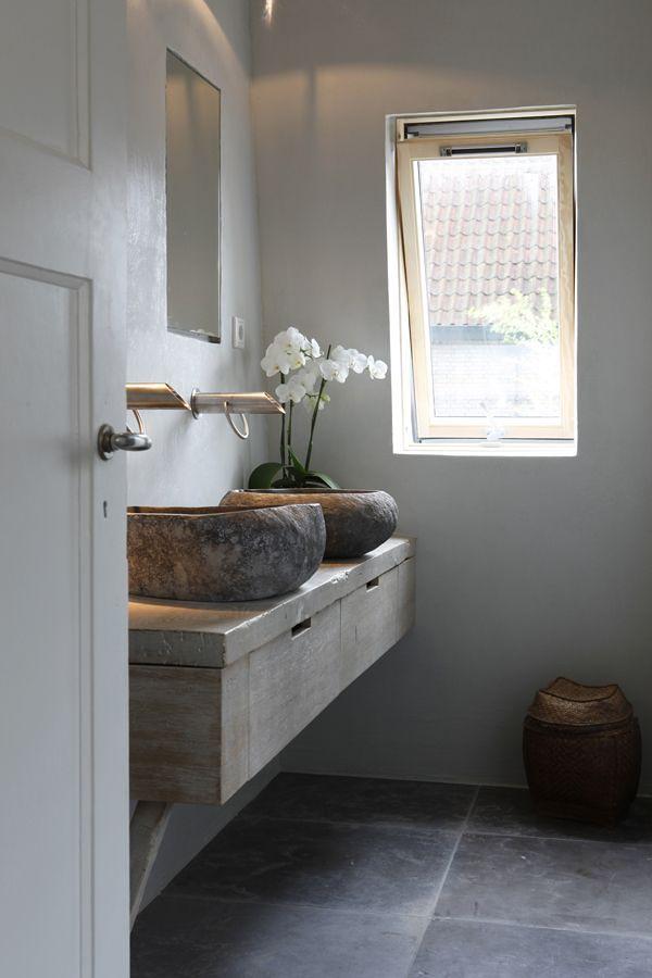 Piedra como lavabo