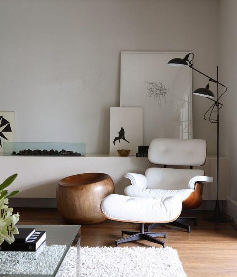 sillón blanco eames