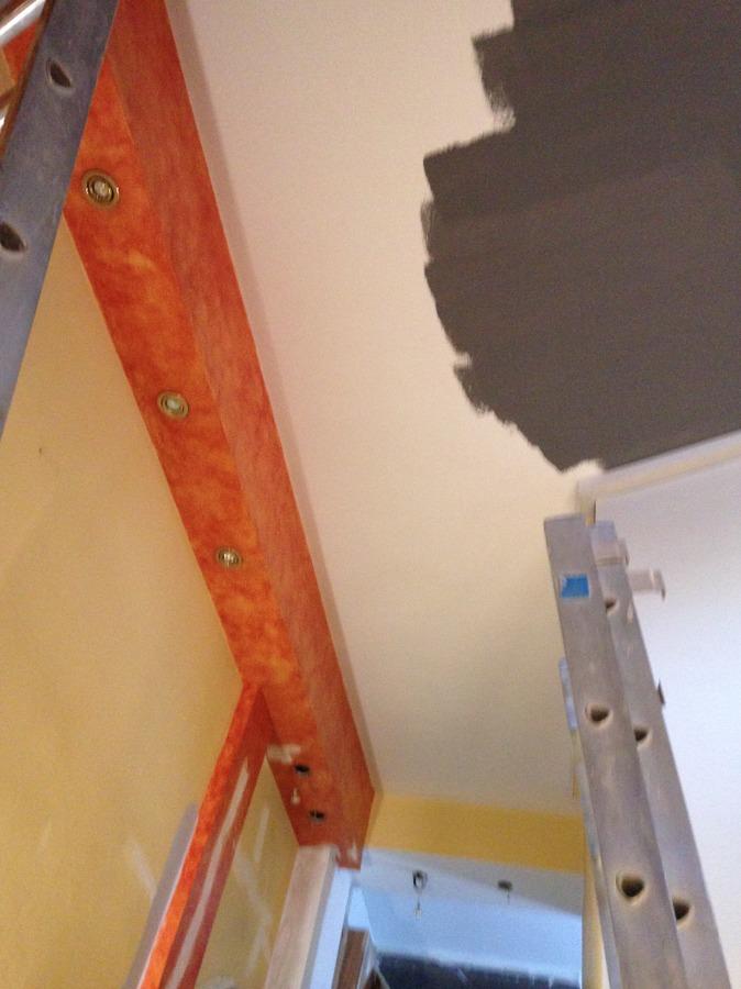 Pintando el techo