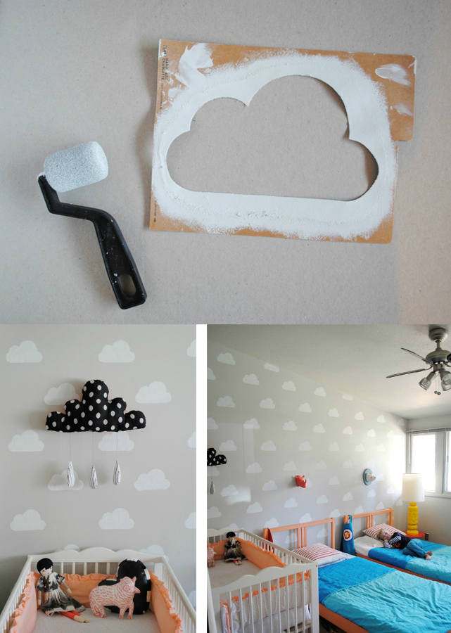 Ideas diy para decorar dormitorios infantiles modernos - Ideas para pintar una pared ...