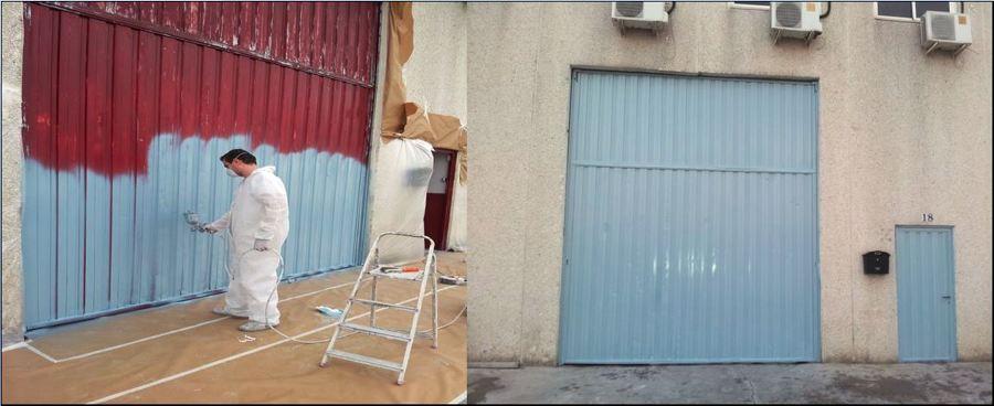 pintar puerta neve industrial