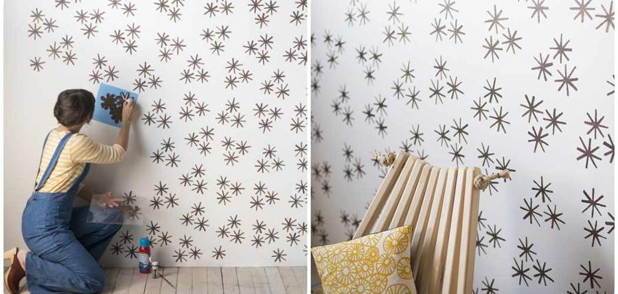 Foto pintura con rodillo con relieve de cobos 1616276 - Plantillas para pintar paredes ikea ...