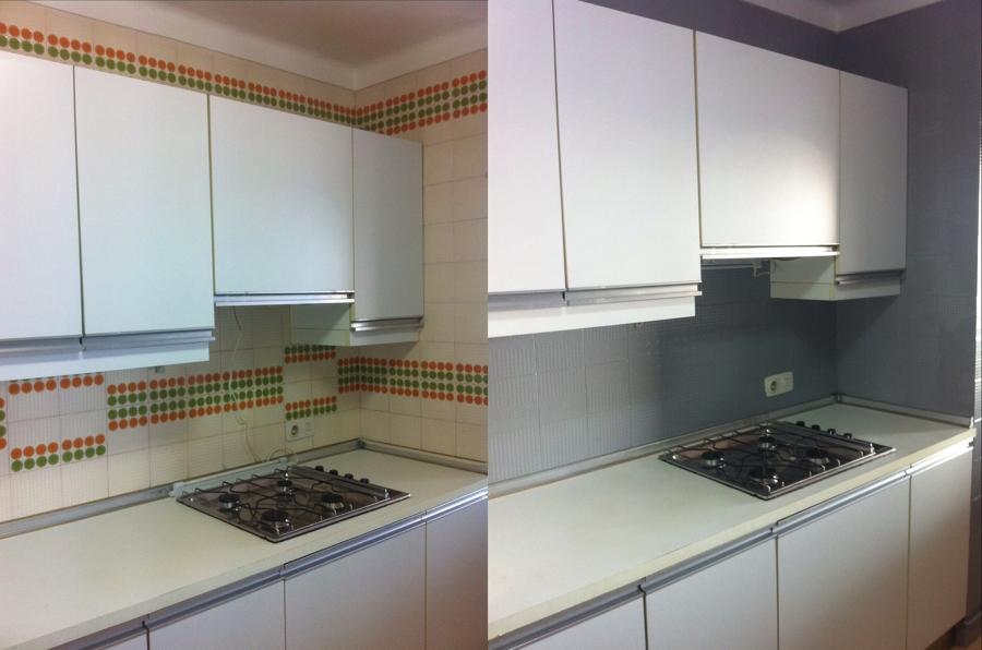 Pintura de baldosas o azulejos en cocinas ideas pintores - Pintura para azulejos de cocina ...