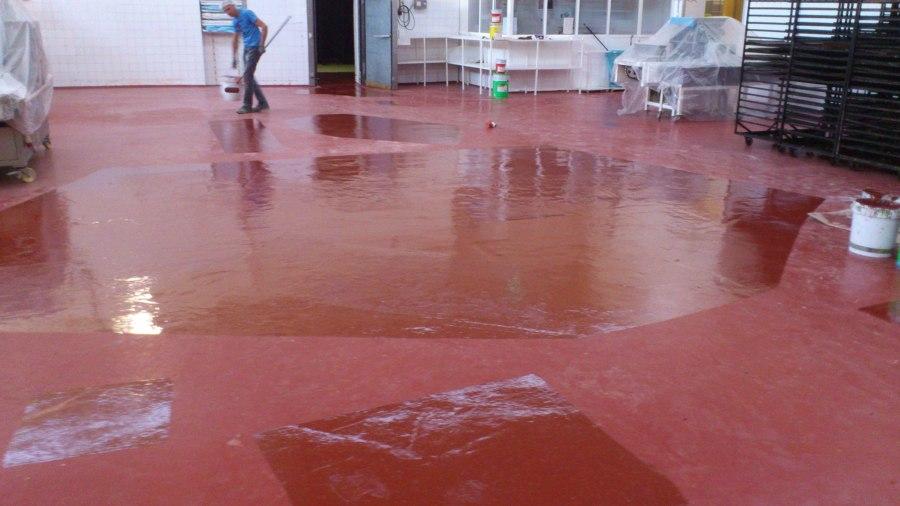 pintura de resina epoxi reparación hormigón