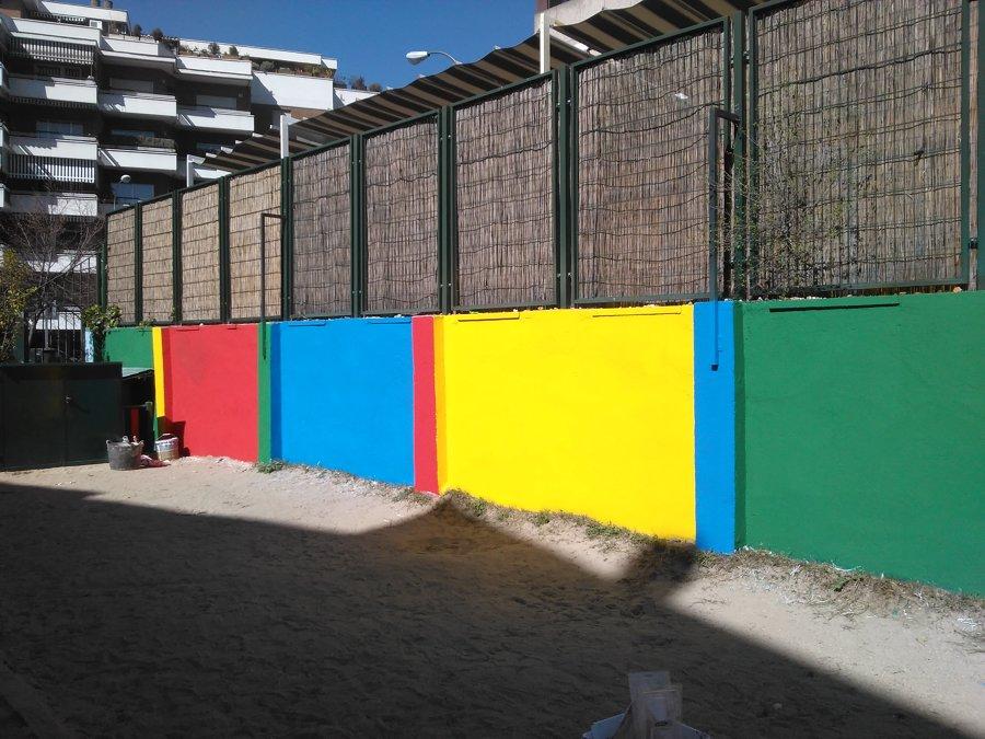 Pintura decorativa para muro de colegio