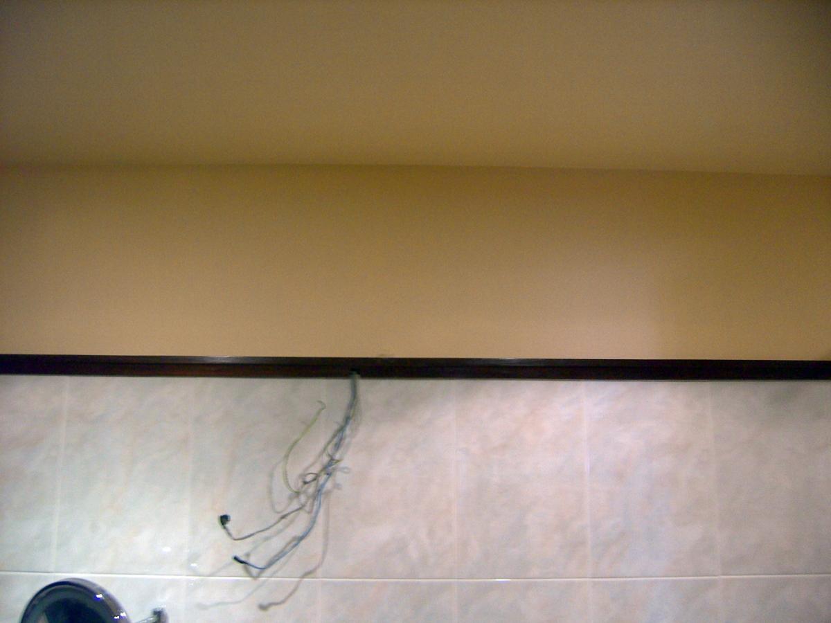 Foto pintura en cuarto de ba o de decoraciones pemar - Pintura techo bano ...