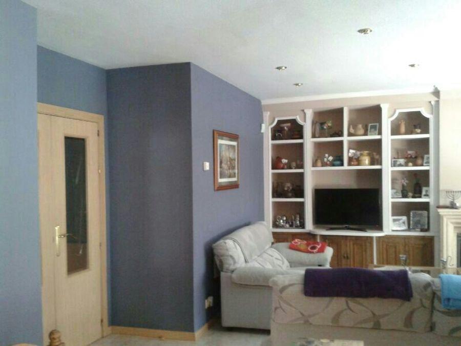 Pintura en sal n y mural de escayola ideas reformas viviendas - Muebles de escayola ...