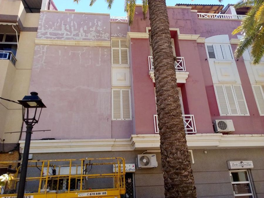 pintura exterior de edificio