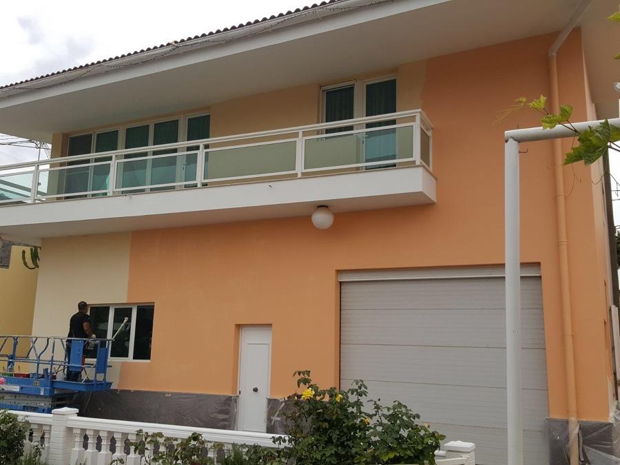 Pintura y revestimiento exterior vivienda fachadas muros - Pintura fachada exterior ...