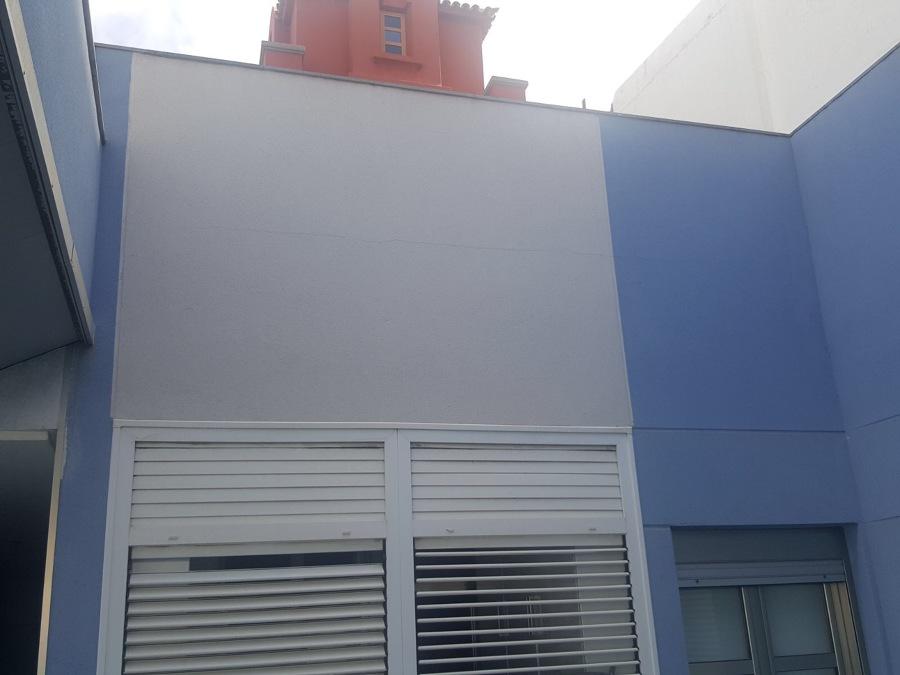 Pintura exterior pared vivienda