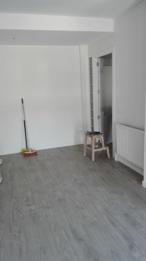 pintura liso y tarima reforma piso moratalaz