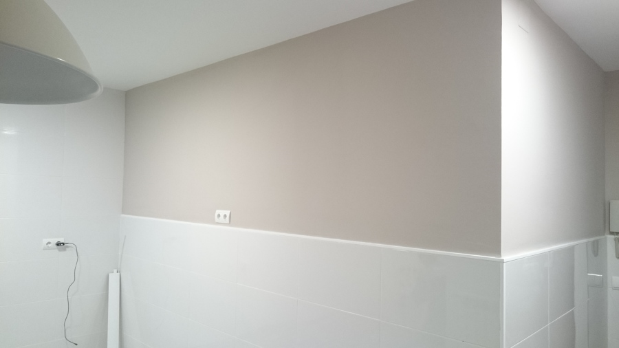 Decoraciones de interiores ideas pintores - Pintura pared cocina ...