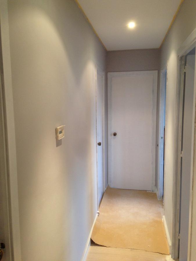 Pintura paredes y puertas vivienda