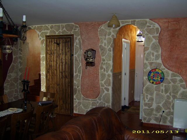 Decoraci n de una vivienda en pinturas decorativas - Pinturas rusticas para interiores ...