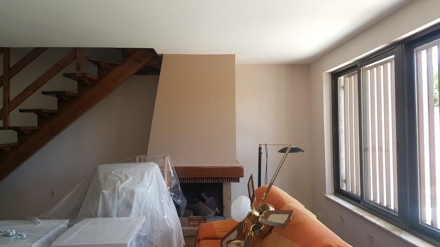 Pintura Salon Chimenea