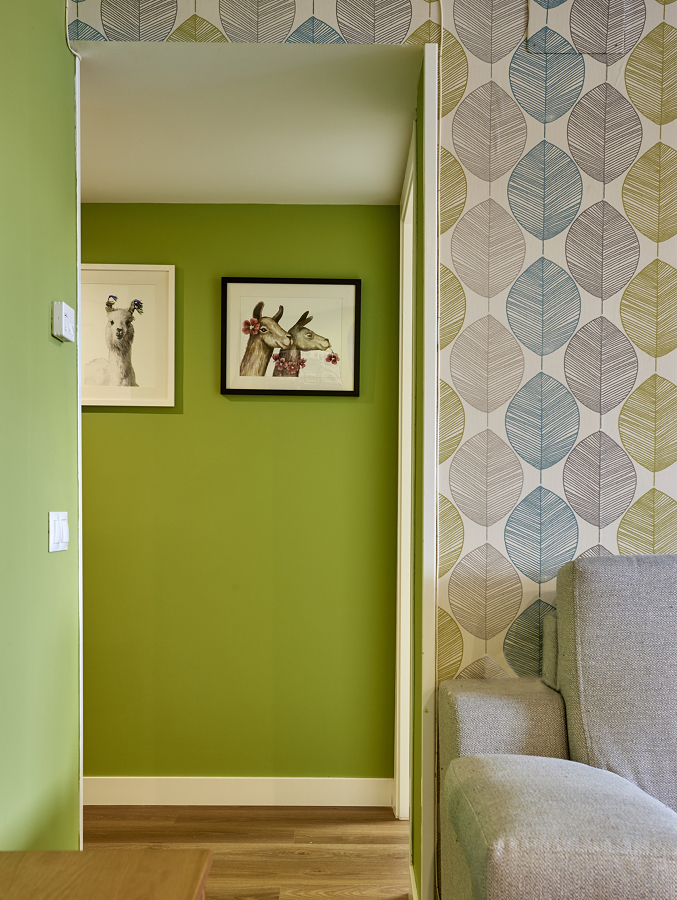 pintura verde interior