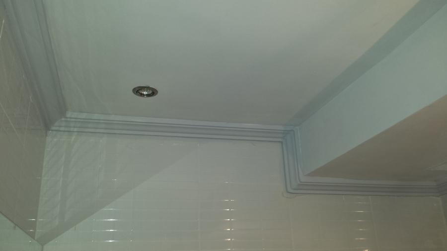 Foto pintura y escayola en techo de ba o de dormitorio de - Pintura techo bano ...