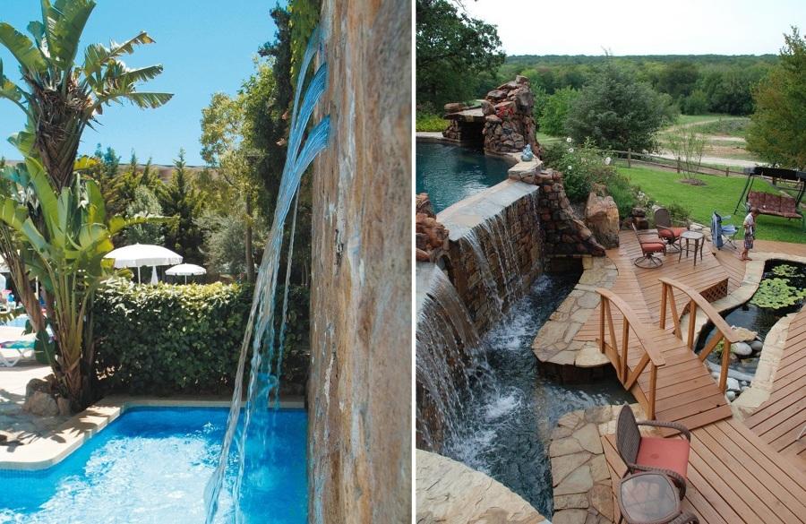 Cascadas para piscinas cuando la belleza y la salud van - Presupuestos para piscinas ...