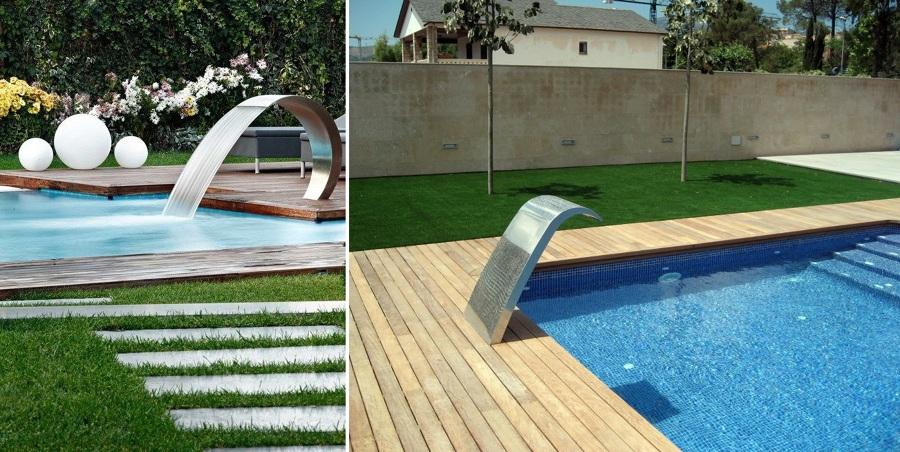 Cascadas para piscinas cuando la belleza y la salud van for Piscinas minimalistas