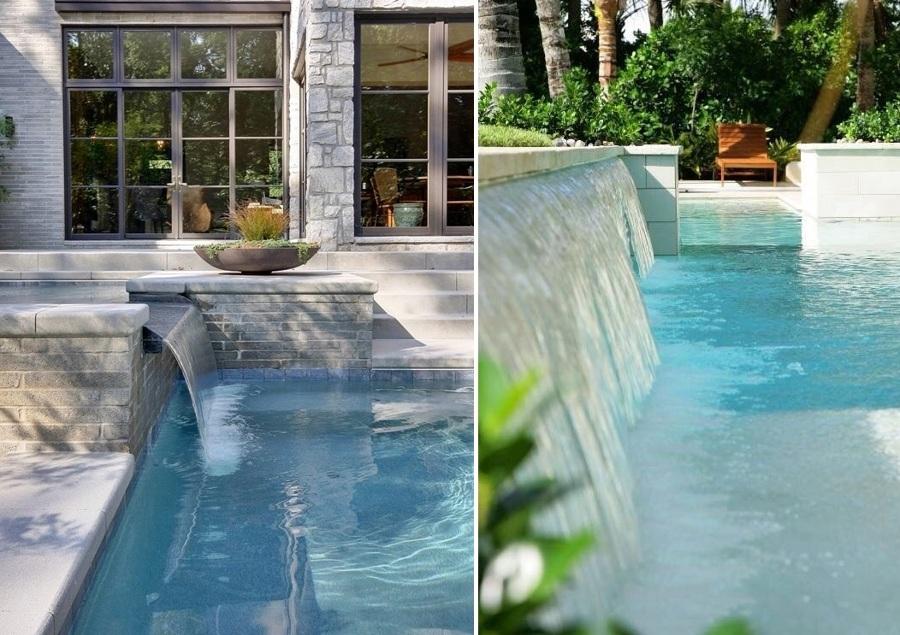 Cascadas para piscinas cuando la belleza y la salud van for Disenos de piscinas con cascadas