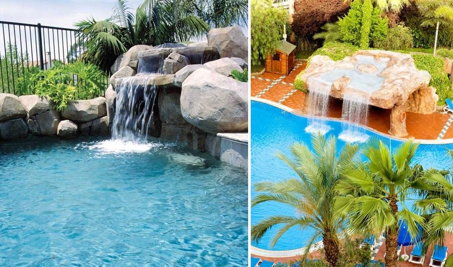 Foto piscinas con cascada de miriam mart 845784 for Piscinas pequenas con cascadas