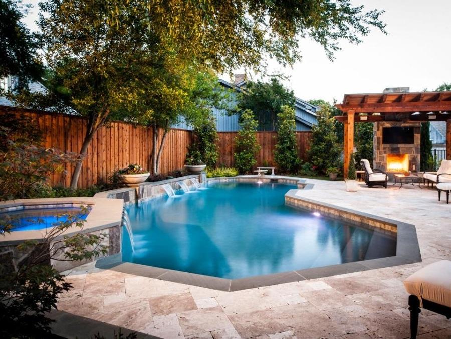 piscina cascada y spa