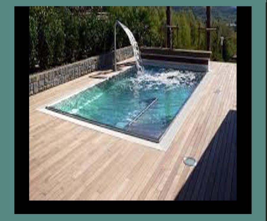 Foto piscina con fuente de piscinas mir 1040944 - Fuentes para piscinas ...