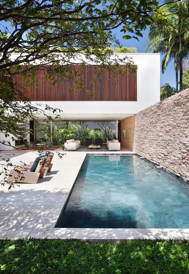 Foto piscina con pared de piedra de marta 1229258 habitissimo - Piscinas de piedra ...