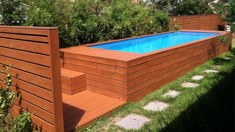 piscina contenedor recubierta