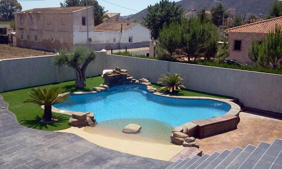 Piscina de arena ideas construcci n piscinas for Piscinas superficie precios