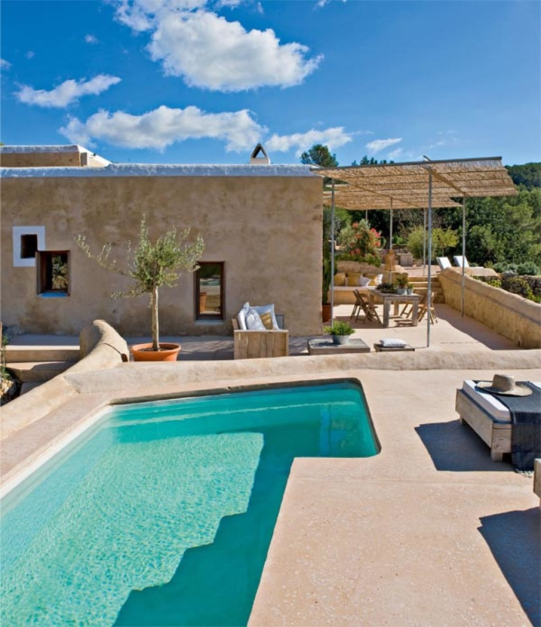 Foto piscina de casa ibicenca de maribel mart nez for Terrazas ibicencas