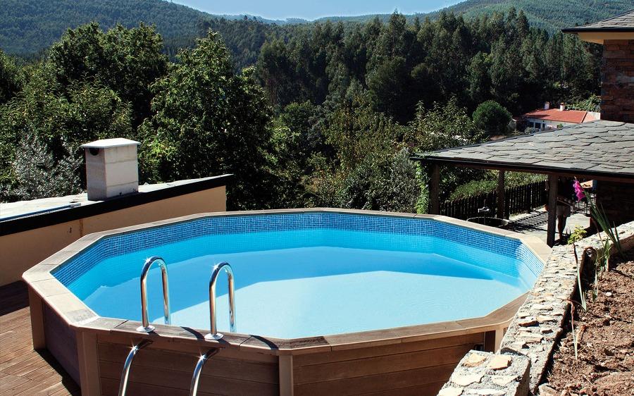 Instalaci n piscina semienterrada ideas electricistas for Piscina elevada madera