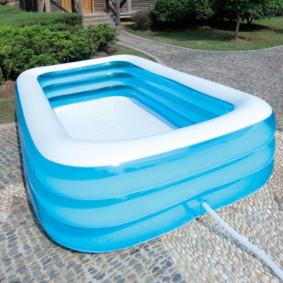 Piscina hinchable alargada for Carrefour piscina hinchable