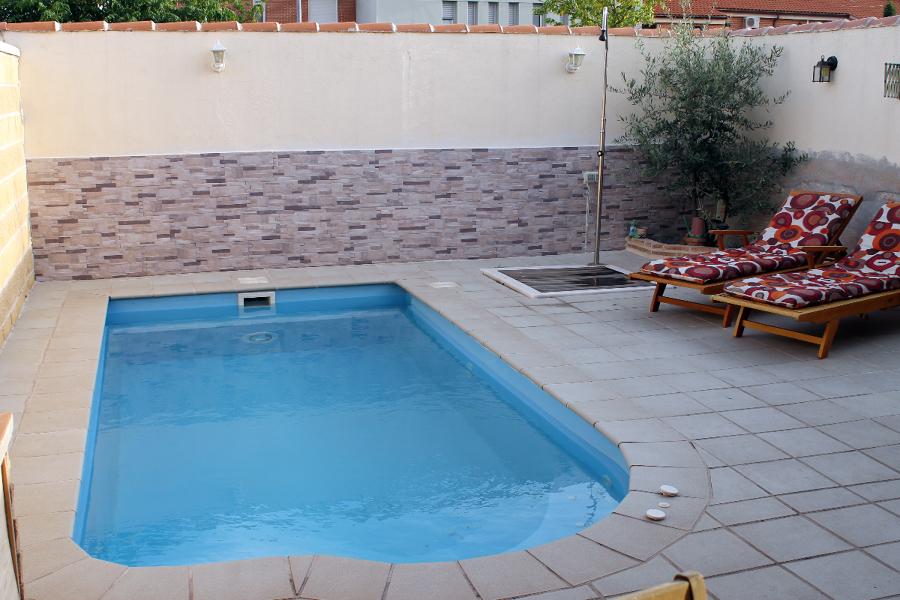 instalacion de piscina de poliester en meco ideas