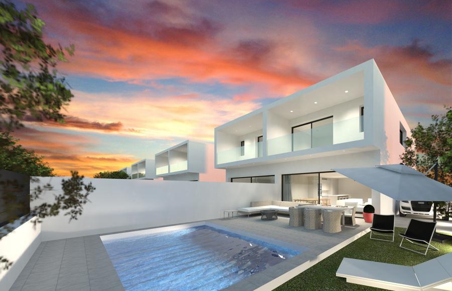 20 viviendas unifamiliares pareadas y 5 aisladas en for Piscina ciudad jardin sevilla