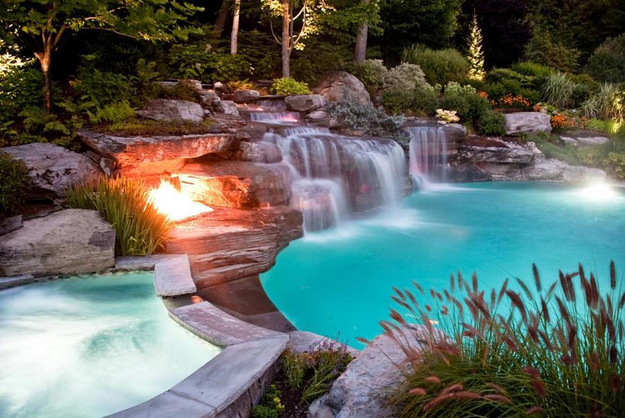 Atr vete con las piscinas de arena y acerca tu casa al mar for Ideas de piscinas con cascadas