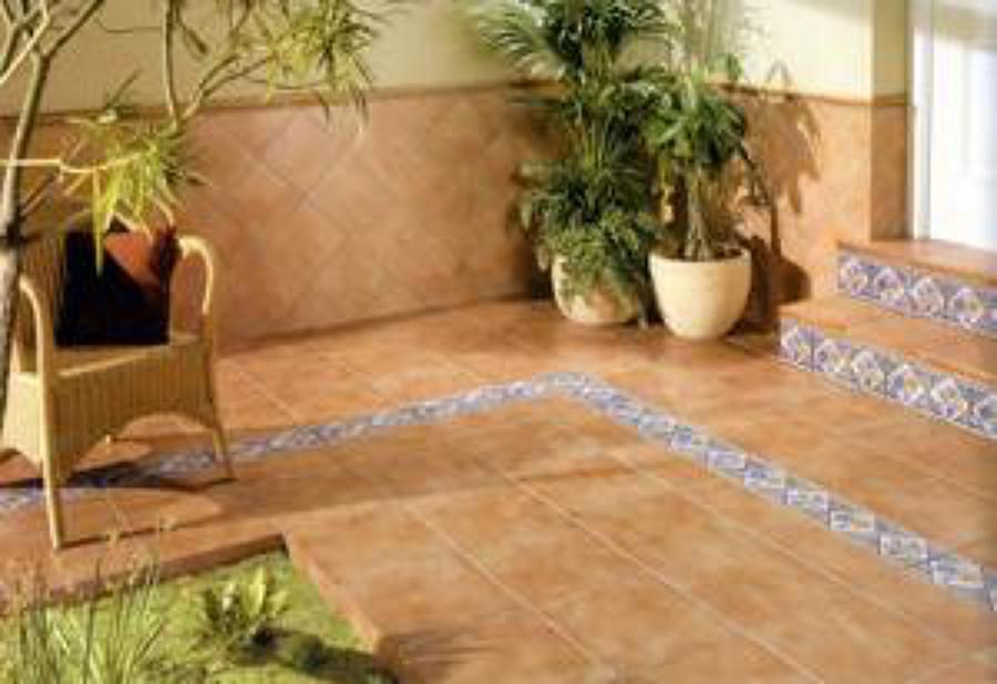 Azulejos para exteriores perfect de exterior with for Pisos rusticos para exteriores