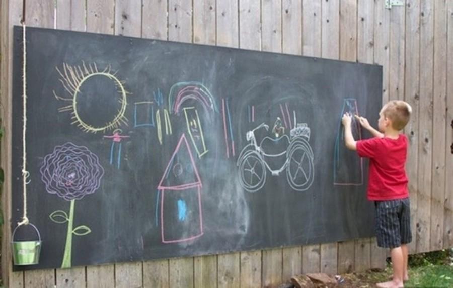 Divi rtete con tus hijos creando espacios para jugar al - Pintar pared pizarra ...