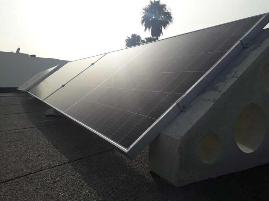Placa solar monocritalina