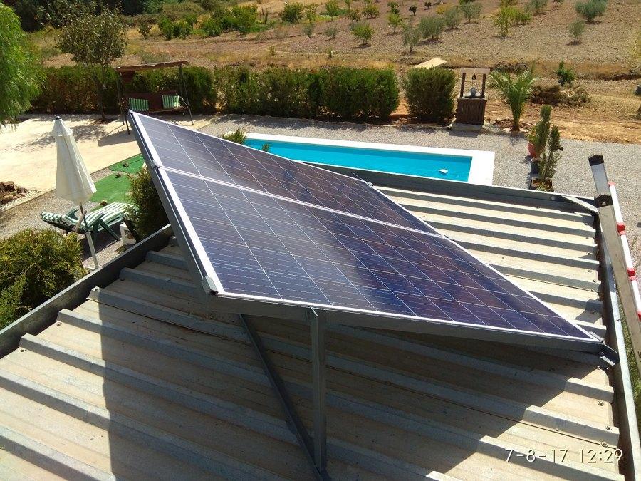 Placas solares para depuradora solar