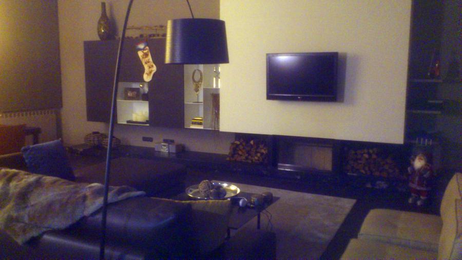 pladur , fuego a tierra , parquet , iluminacion y mobiliario