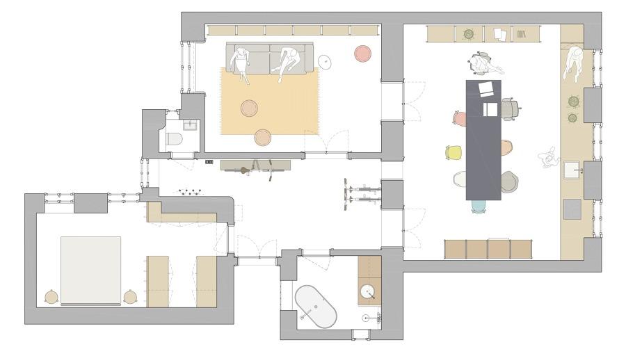 Plano de distribución de la vivienda