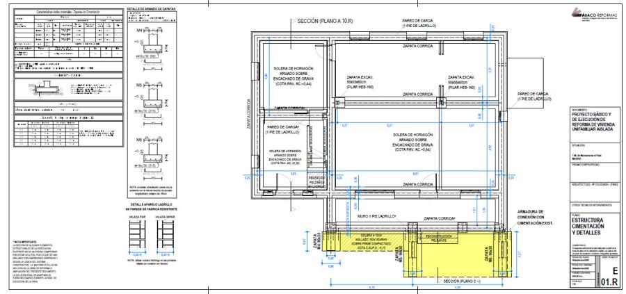 Foto plano de estructura pb de proyecto de ejecuci n de for Planos de estructuras