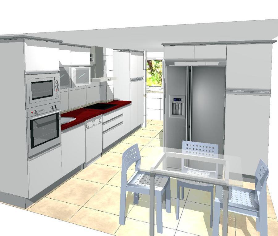 3d ideas reformas cocinas for Plano de una cocina profesional