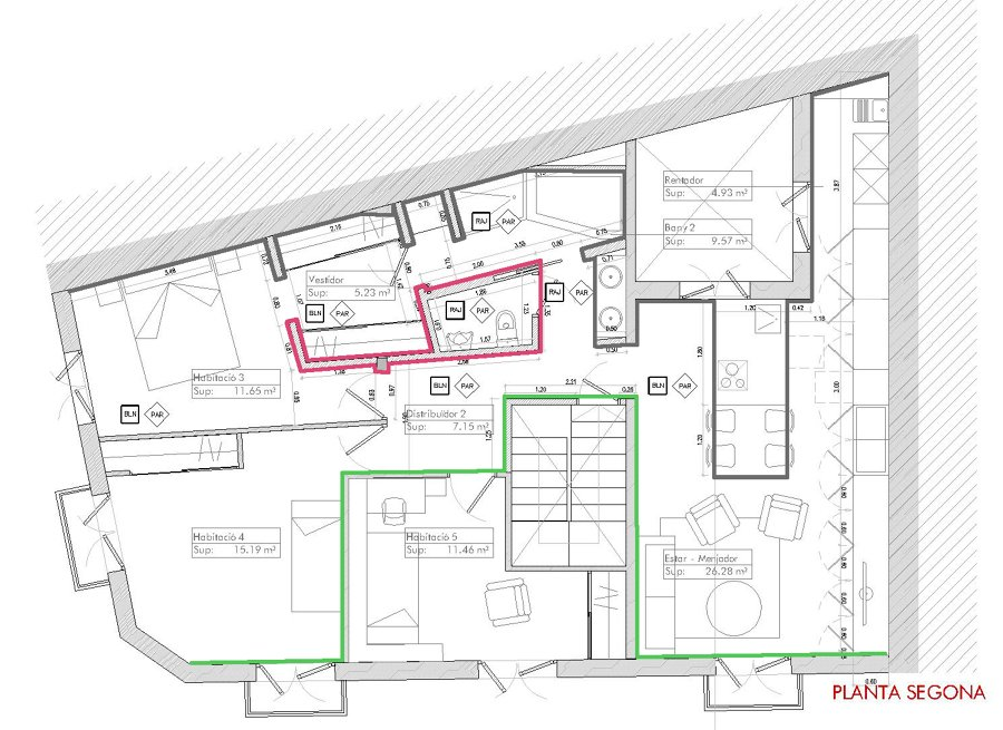 Plano piso tipo
