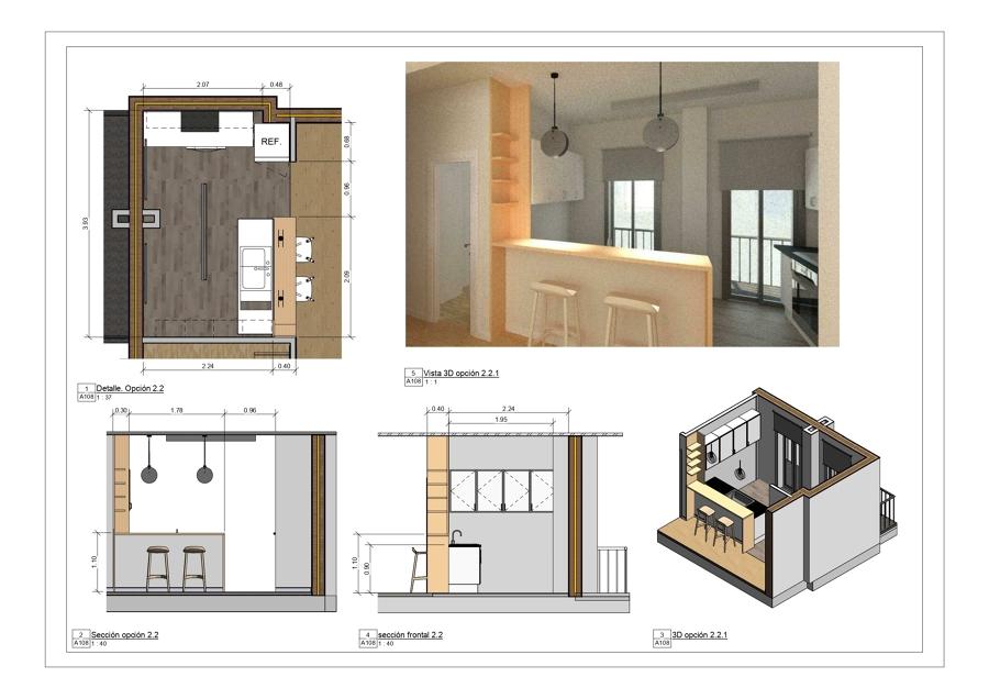 Plano Salón - cocina