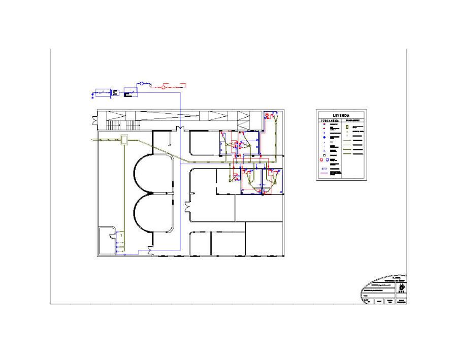 Foto planos de fontaner a y saneamiento de f 25 design - Como hacer una instalacion de fontaneria ...