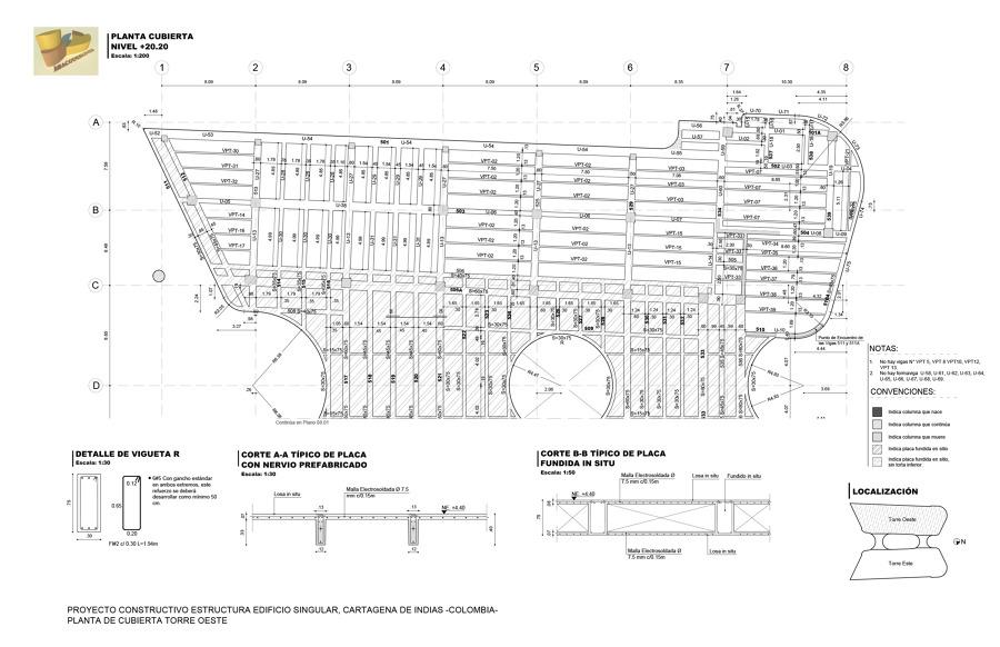 Proyecto constructivo de estructura de edificio singular for Presupuesto para construir una piscina en colombia