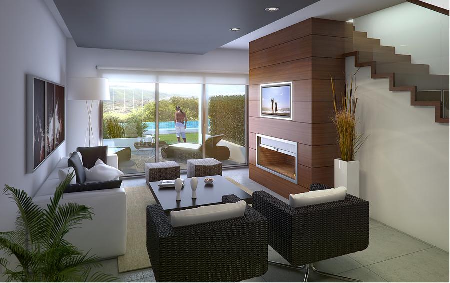 Foto planta l dica conectada por el porche con la piscina for Casas con porche y piscina